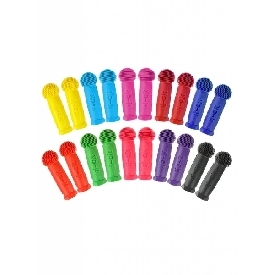 Single rubber hand grips