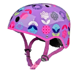Micro helmet floral dot purple