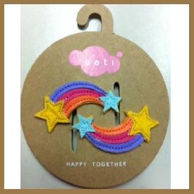 Sati lc005 rainbow baby clip
