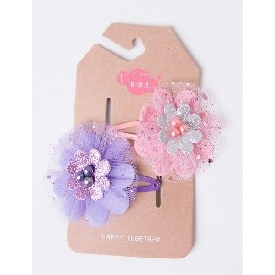Sati fcf086 hair clip flower (purple/pink)