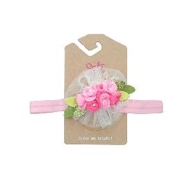 Sati hb075 headband pink flower