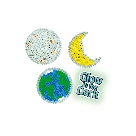 Iron-on beads glow in the dark
