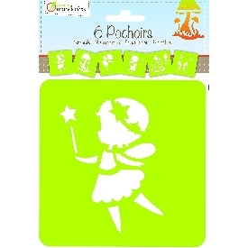 Assorted fairies stencils