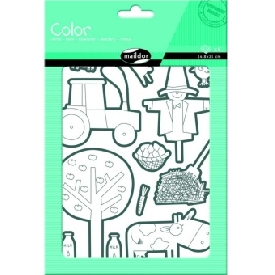 Stickers to color - farm