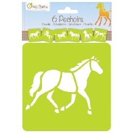 Assorted horses stencils