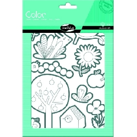 Stickers to color - garden