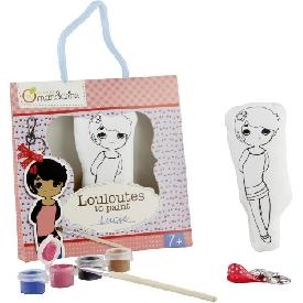 ระบายสีตุ๊กตาเด็กหญิงพร้อมพวงกุญแจ