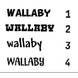 Wallaby stitching 200b