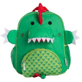 กระเป๋าเป้สะพายหลังลายไดโนเสาร์สีเขียว