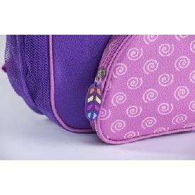 กระเป๋าเป้สะพายหลังลายนกฮูกสีม่วง