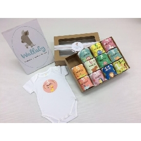 Baby bodysuits set 12 - colorful animals