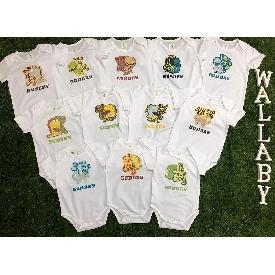 Baby bodysuits set 12 - dinosaur