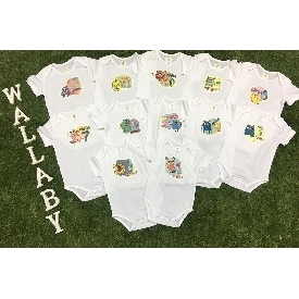 Baby bodysuits set 12 - monster