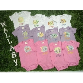 Baby Bodysuits Set 12 - Colorful Little Girl