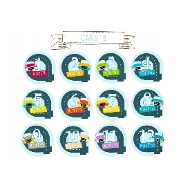 Baby bodysuits set 12 - cars 2