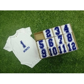 Baby bodysuits set 12 - number boy