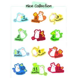 Baby bodysuits set 12 - mice