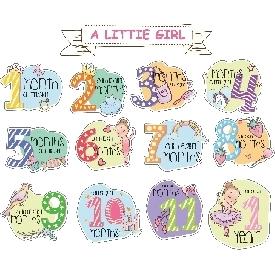 ชุดของขวัญบอดี้สูทเด็กอ่อน 12 ชิ้น - white little girl