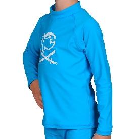 เสื้อกันยูวีแขนยาวเด็กโตสีฟ้า