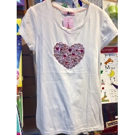 T shirt with heart crystal 750b