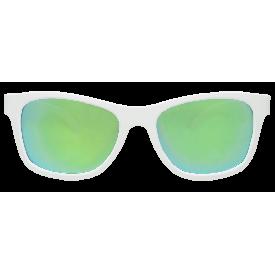 แว่นกันแดดเด็กโต กรอบเหลี่ยมขาวเลนส์เขียว