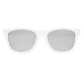 Aces Navigator Wicked White Mirrored Lenses
