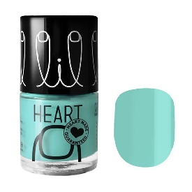 Little heart nail color mint mint 08