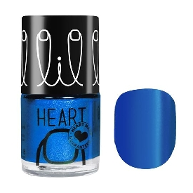 Little heart nail color warhol blue 40