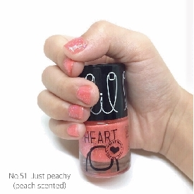 Little Heart Nail Color Just Peachy Glitter scented 51