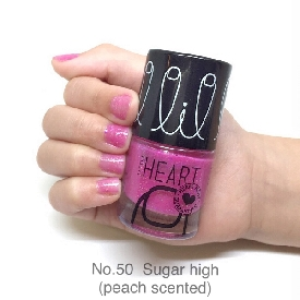 Little heart nail color sugar high glitter scented 50