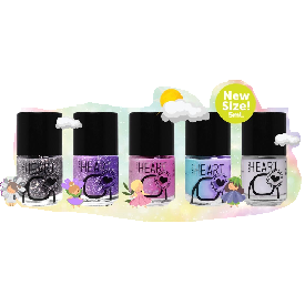 Magic color little heart nail set 5 pcs. collection ii