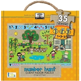 Giant Floor puzzle : number hunt