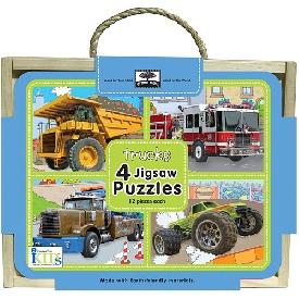 Jigsaw puzzle box - truck