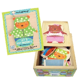 Jigsaw wooden box - let's get dressed