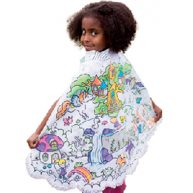 Color-a-cape forest fairy cape