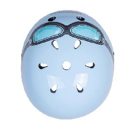 Helmet blue goggle