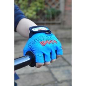 ถุงมือปั่นจักรยาน สีน้ำเงิน