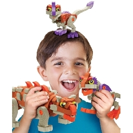 Bloco ตัวต่อไดโนเสาร์ แองคิโลซอรัส และ แรปเตอร์วัยเด็ก