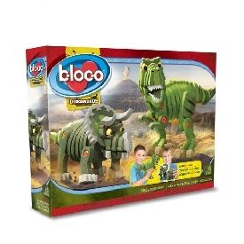 Bloco ตัวต่อไดโนเสาร์ ทีเร็กซ์ และ ไทรเซราทอปส์