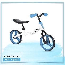 จักรยานขาไถ Globber สีขาว/ฟ้า