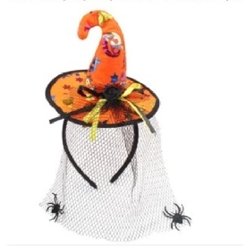 Halloween headband orange net