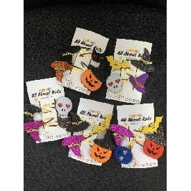 Halloween mini hair clips