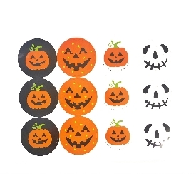 Circle halloween sticker