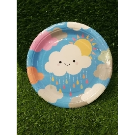 Party Paper Plate 9 inches - Little Clouds