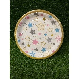 Party paper plate 7 inches - stars
