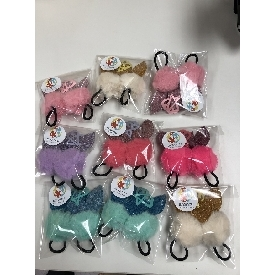 Cotton ball hair band 89b