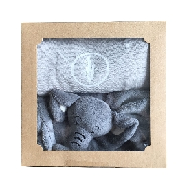 Baby onesie & doudou set-grey