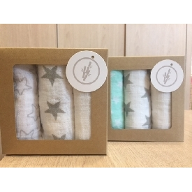 Set of 3 Mini Muslin Towels