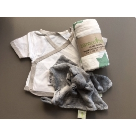 Bamboobubs newborn giftsets-white with grey