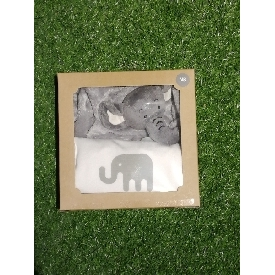 Onesie grey elephant-doudou set